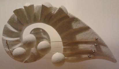 """Door Harp small """"Ammonite"""", cherry"""