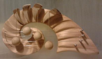 """Door Harp, """"Ammonite"""", small, Alder"""