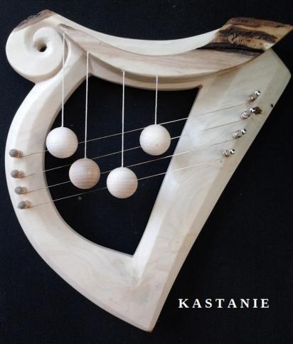 door harp CELTIC, harp form